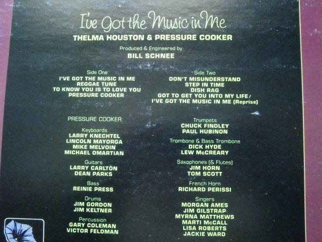 Thelma Houston & Pressure Cooker / I've Got The Music In Me / Michael Omartian,Stevie Wonder, Syreeta Wright ,Lennon & McCartney_画像3