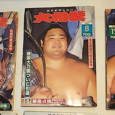 1991 5冊セット 大相撲 相撲 雑誌 北勝海 琴錦 小錦 力士 _画像3