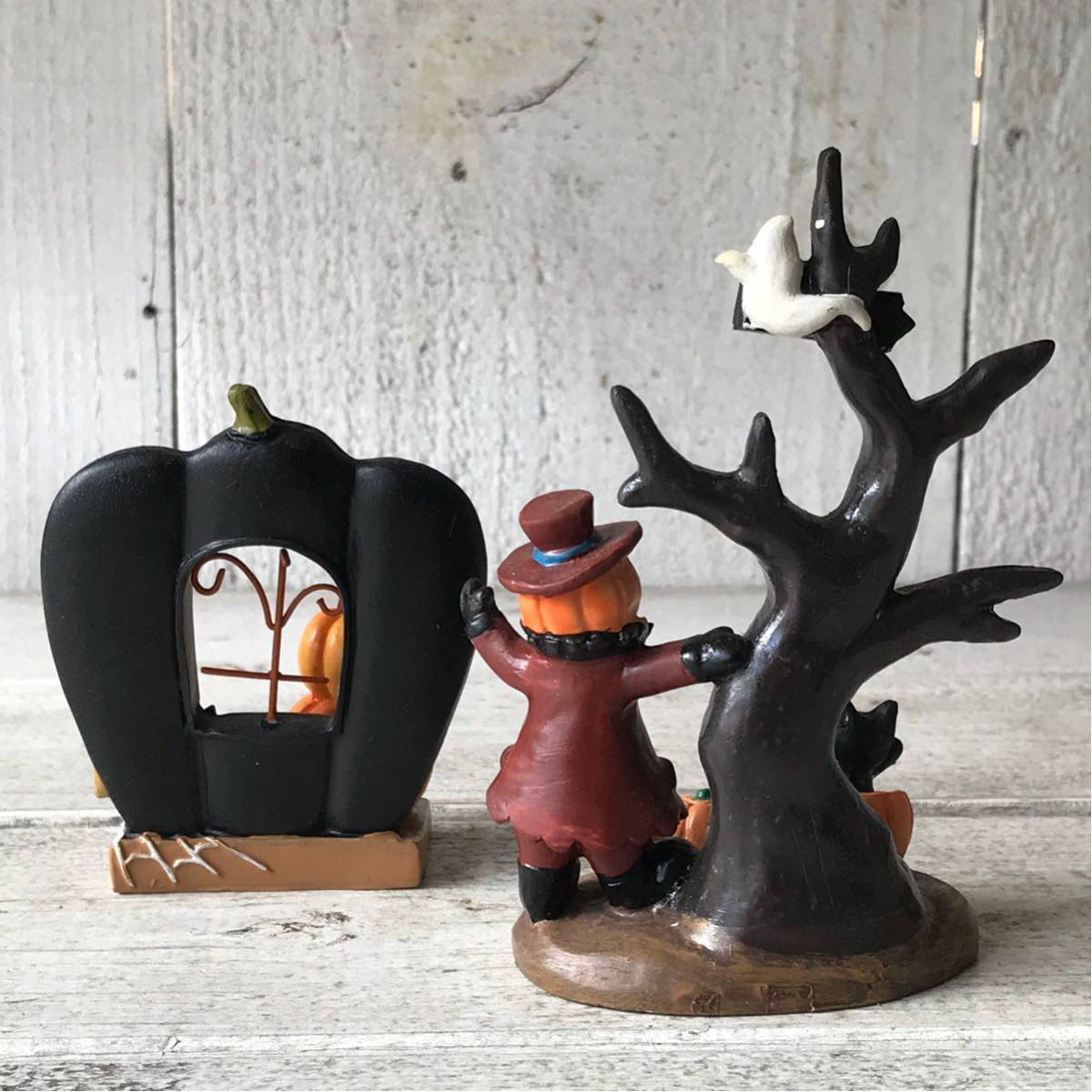 Halloween Hello wing Halo we n miscellaneous goods interior objet d'art pumpkin small articles ornament set door tree ww