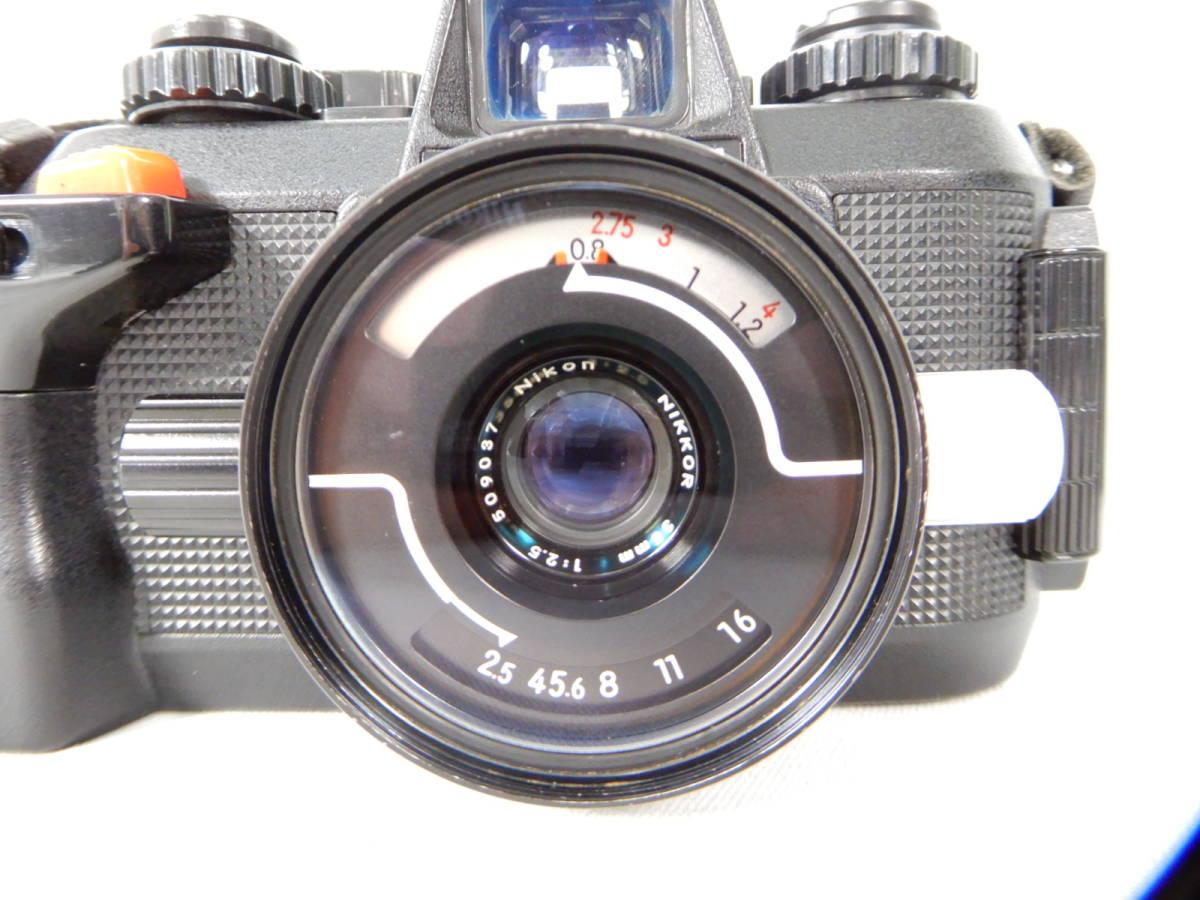 Nikon ニコン FE 105mm 1:2.8 80-200mm 1:4 NIKONOS Ⅳ-A 35mm1:2.5 YASHICA ヤシカ Electro 35 1:1.7 f=45mm 一眼レフカメラ レンズ_画像8
