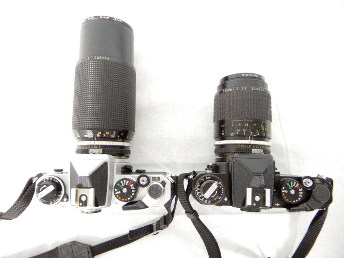Nikon ニコン FE 105mm 1:2.8 80-200mm 1:4 NIKONOS Ⅳ-A 35mm1:2.5 YASHICA ヤシカ Electro 35 1:1.7 f=45mm 一眼レフカメラ レンズ_画像3