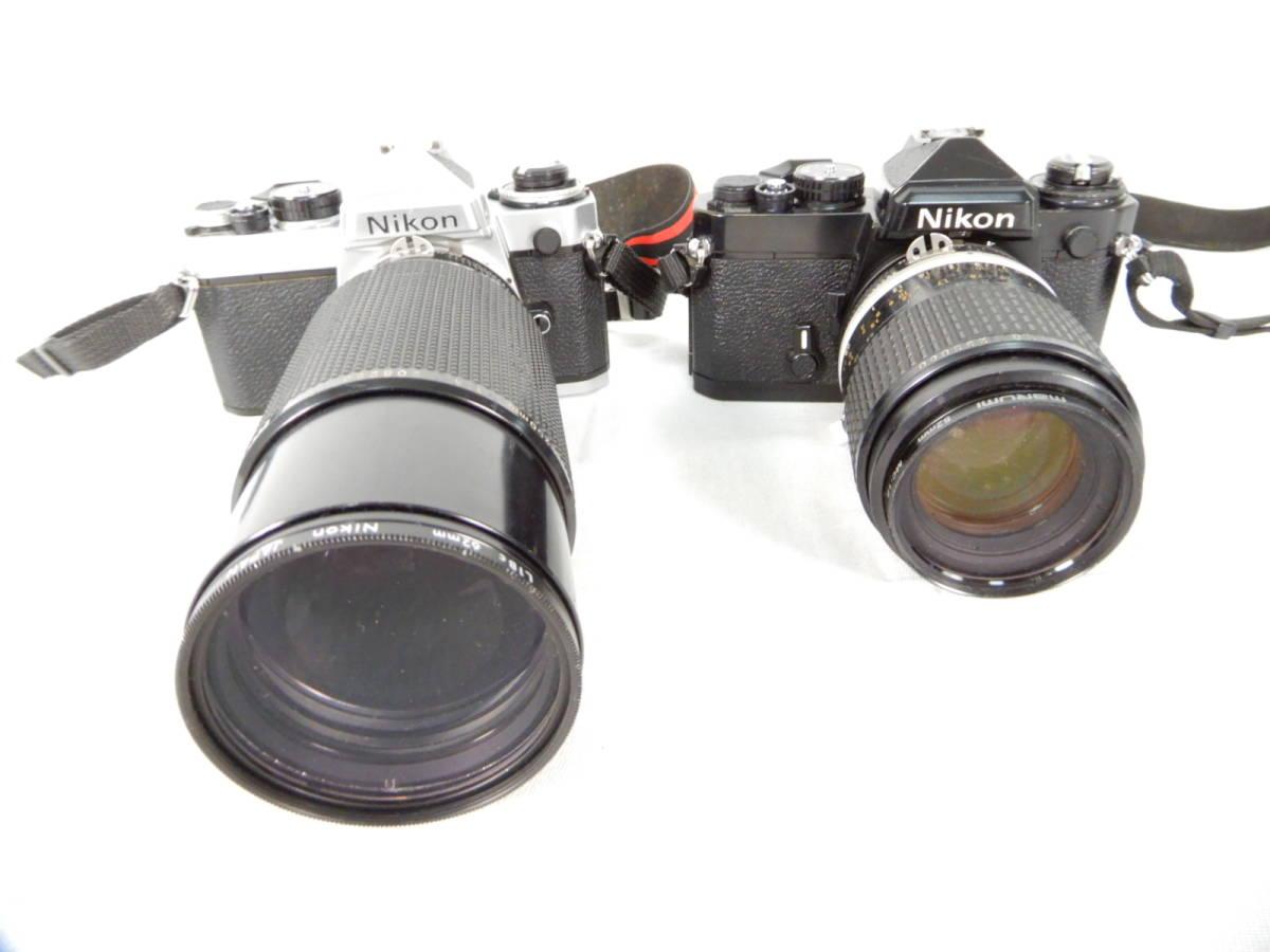 Nikon ニコン FE 105mm 1:2.8 80-200mm 1:4 NIKONOS Ⅳ-A 35mm1:2.5 YASHICA ヤシカ Electro 35 1:1.7 f=45mm 一眼レフカメラ レンズ_画像2