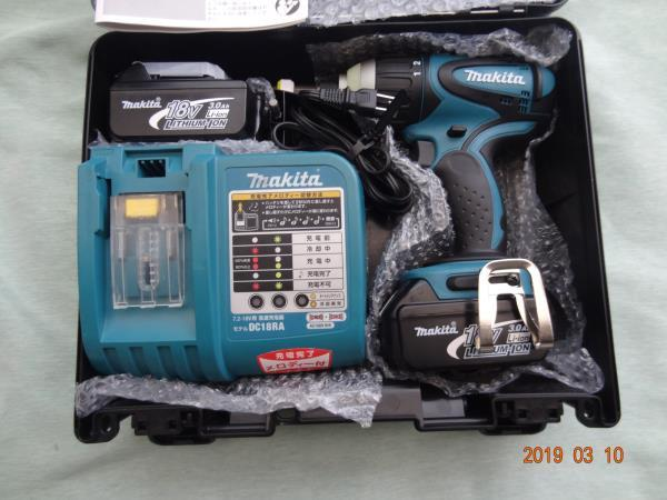 マキタ (makita) 18V 充電式 4モードインパクト ドライバー TP140D 色 青 未使用に近い M-007