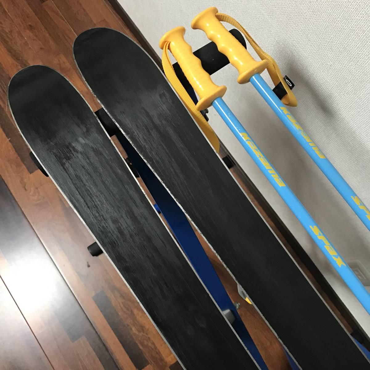 ジュニアスキーセット◆ケース付 KAZAMA 90cm ブーツ 17-18cm ポール 70cm キッズ 子供 ジュニア _画像6