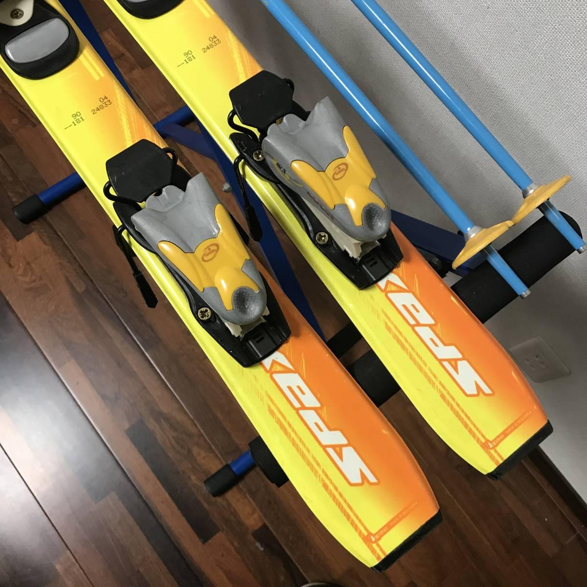 ジュニアスキーセット◆ケース付 KAZAMA 90cm ブーツ 17-18cm ポール 70cm キッズ 子供 ジュニア _画像4