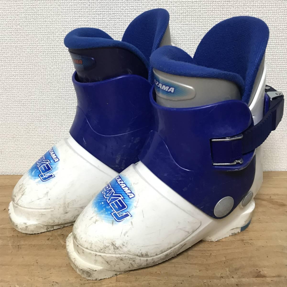 ジュニアスキーセット◆ケース付 KAZAMA 90cm ブーツ 17-18cm ポール 70cm キッズ 子供 ジュニア _画像8