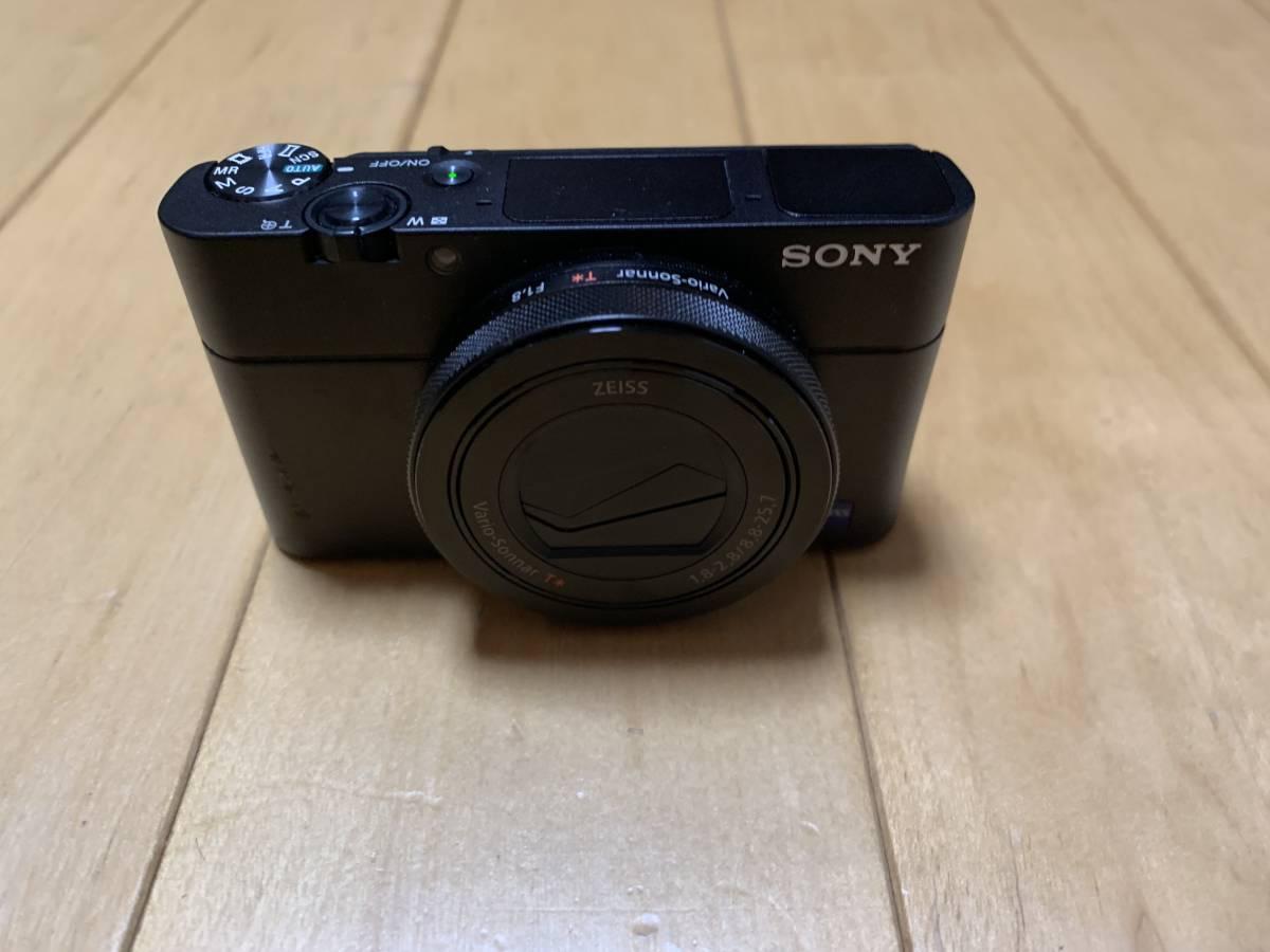 SONY Cyber-shot RX100V DSC-RX100M5 中古 美品 SONY純正 革ケース、バッテリーチャージャー Transcend32GBのSDカード 付属