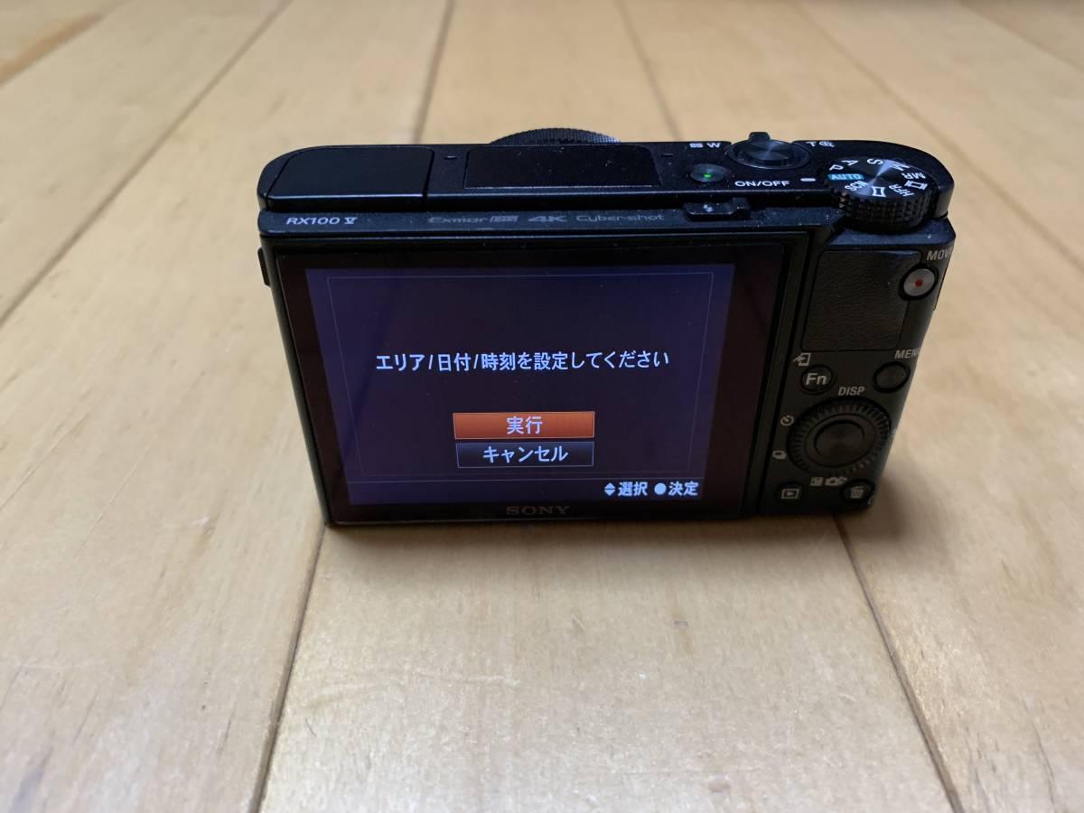 SONY Cyber-shot RX100V DSC-RX100M5 中古 美品 SONY純正 革ケース、バッテリーチャージャー Transcend32GBのSDカード 付属_画像2