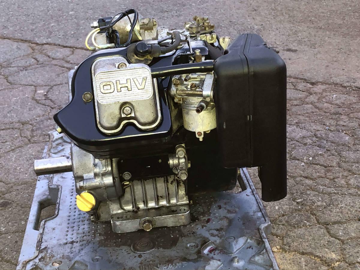 実演動画あり 整備済 極上品 オーレックの運搬車より セル付 カワサキ10馬力 4サイクル OHV エンジン FE290 現物確認 初期不良対応OK_画像5