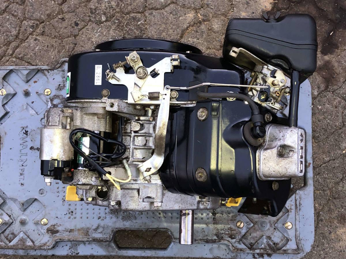 実演動画あり 整備済 極上品 オーレックの運搬車より セル付 カワサキ10馬力 4サイクル OHV エンジン FE290 現物確認 初期不良対応OK_画像6