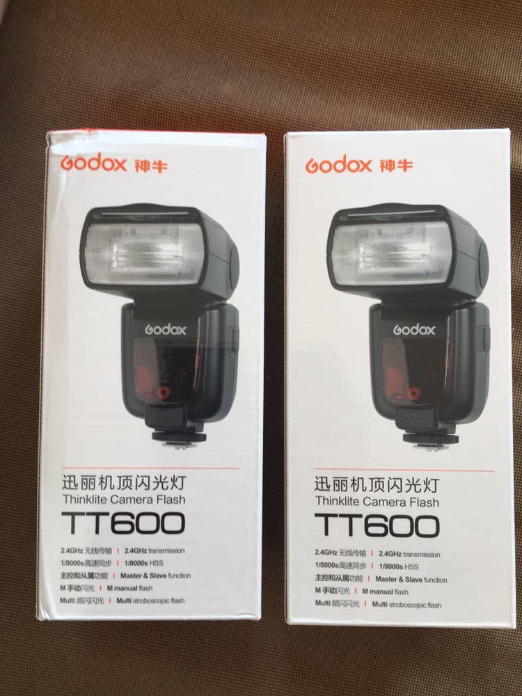 2 piece set GODOX Thinklite TT600 flash Speedlight master / slave