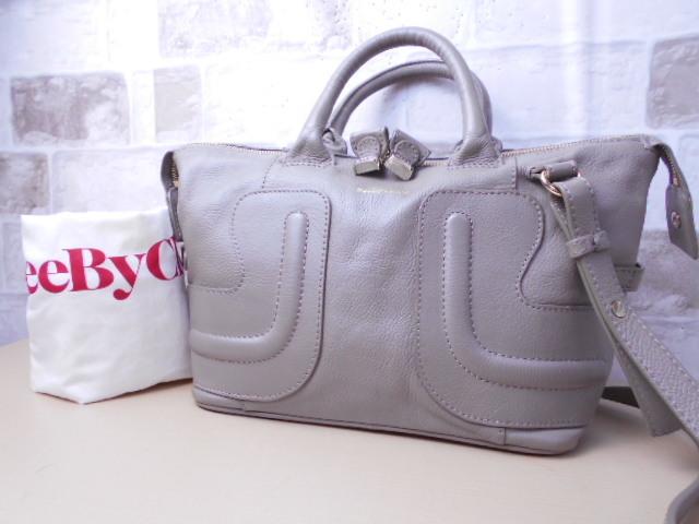 6234caaf5824 代購代標第一品牌- 樂淘letao - 極美品□シーバイクロエSeeByChloe'□2way ハンドバッグショルダーバッグレザーグレージュ可愛い鞄 ag2067