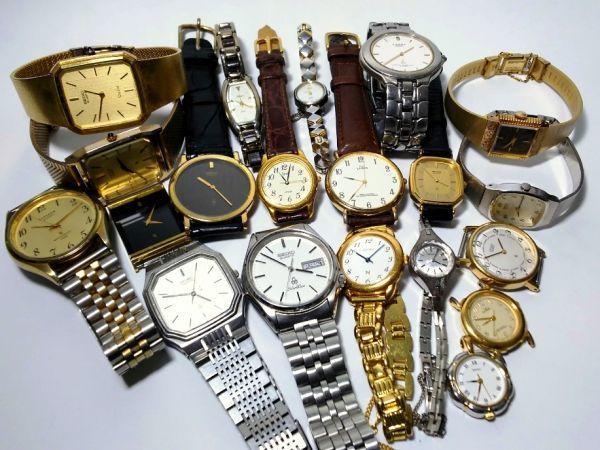 【ジャンク品/まとめ売り⑰】SEIKO&CITIZEN☆ドルチェ・SilverWave・シャリオ・ClubLaMer他☆腕時計20本