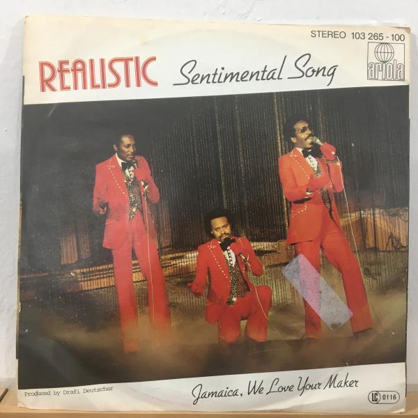 ☆Realistic/Sentimental Song☆謎のEURO AFRO BOOGIE!7inch 45_画像1