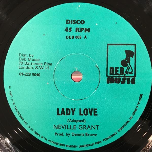 ★Neville Grant/Lady Love★LOVERS ROCK!ソウル名曲カバー!_画像1