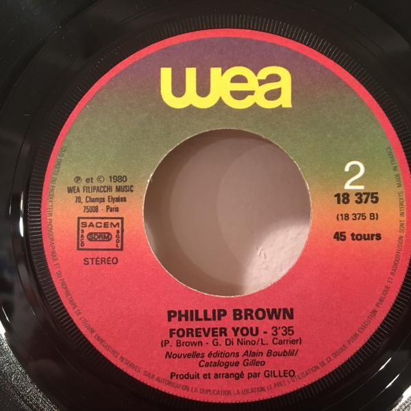 ☆Phillip Brown/Easy Life - Forever You☆メロウFRENCH SOUL!7inch 45_画像2