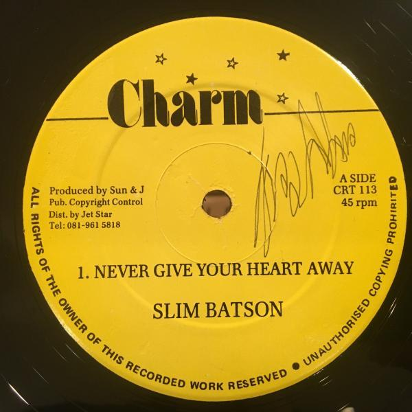★Slim Batson/Never Give Your Heart Away★レアLOVERS!CALTON & THE SHOESカバー!_画像1