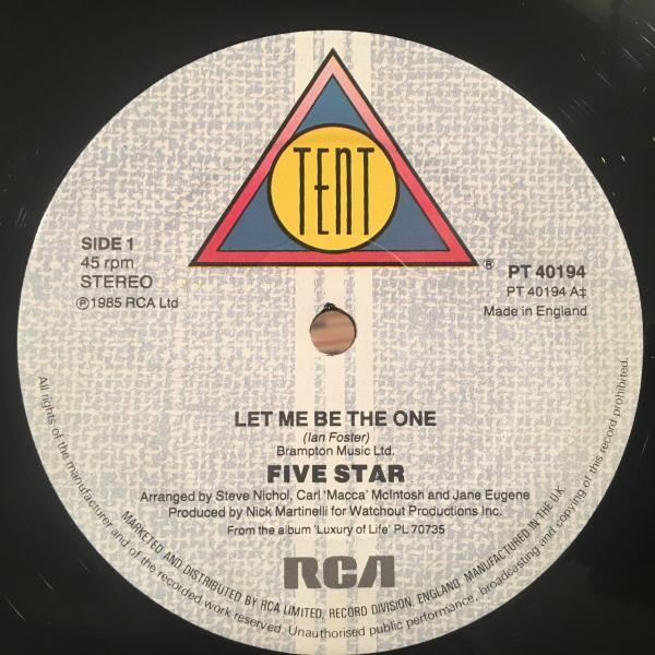 ☆5 Star/Let Me Be The One☆UK MODERN SOUL/BOOGIE!_画像2