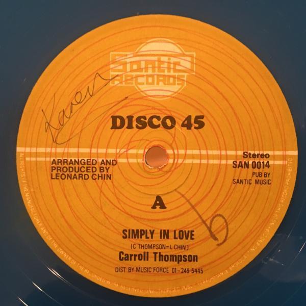 ★Carroll Thompson/Simply In Love★LOVERS ROCK定番名作!_画像1