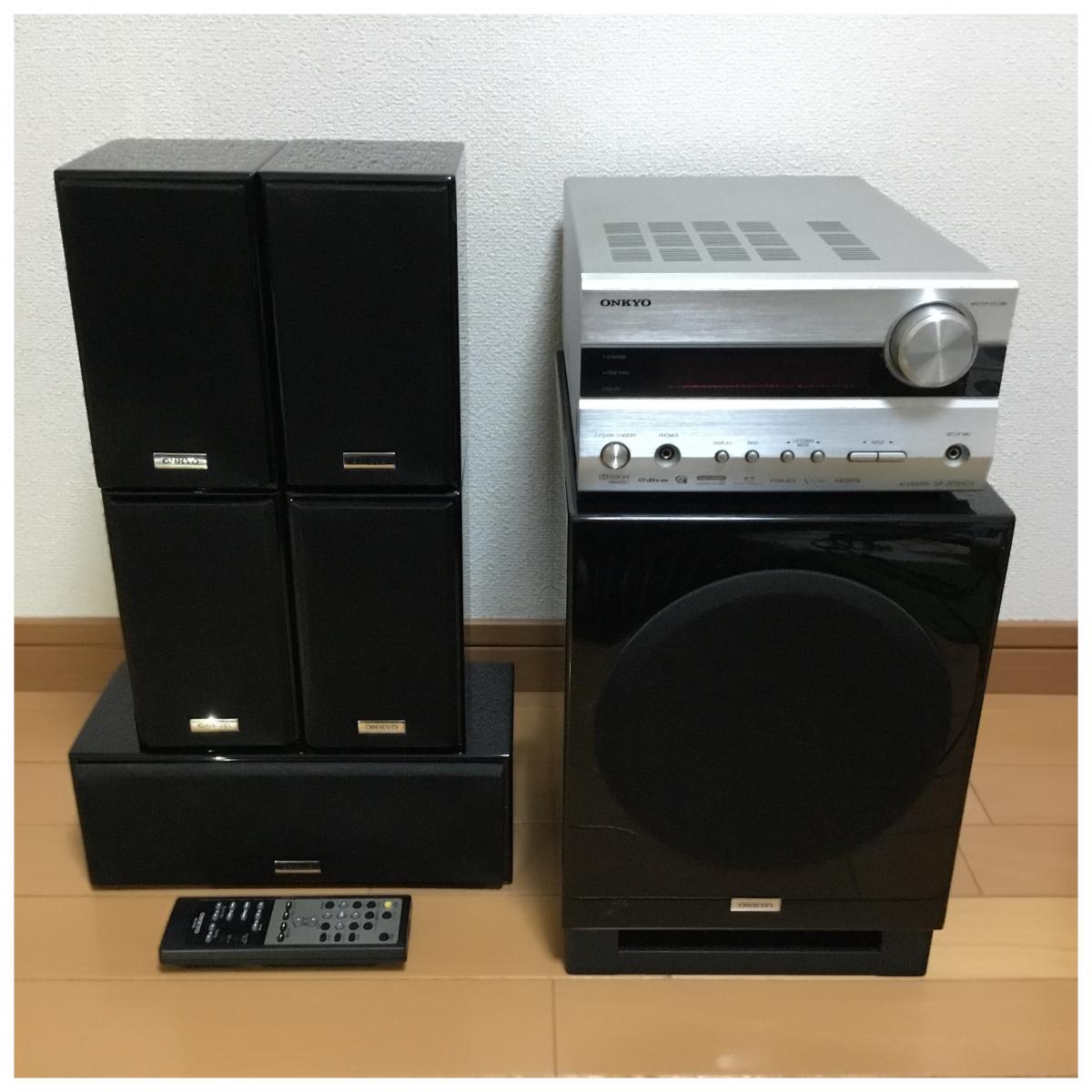 1円スタート!ONKYO オンキョー SA-205HDX ST-V30HDX SWA-V30HDX D-108M D-108C サラウンドセット