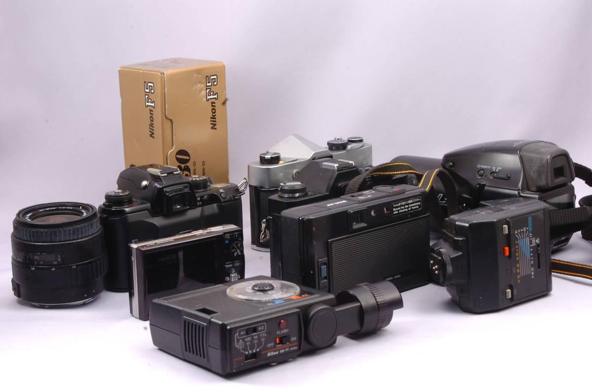 ★大量 まとめて 動作未確認カメラ 10台セット ★ 10 Canon AF35M Konica FP-1 Minolta Nikon F5 Olympus μ Pentax MZ-3 Sigma Yashica_画像3