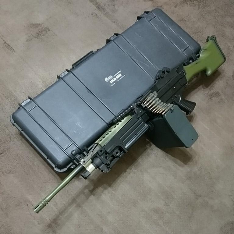 レア star ARES 18禁 スタンダード 電動ガン M249 固定ストック 金属メカボックス交換 動作OK スイッチ接点 マガジン電源不良 現状渡し