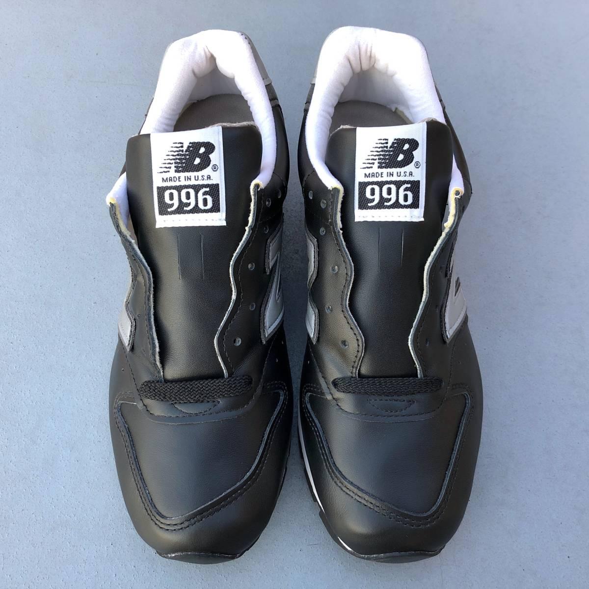 9b60fde59d7bd デッドストック USA製 オールレザー 2009年モデル New Balance M996LB ブラック×グレー US7D