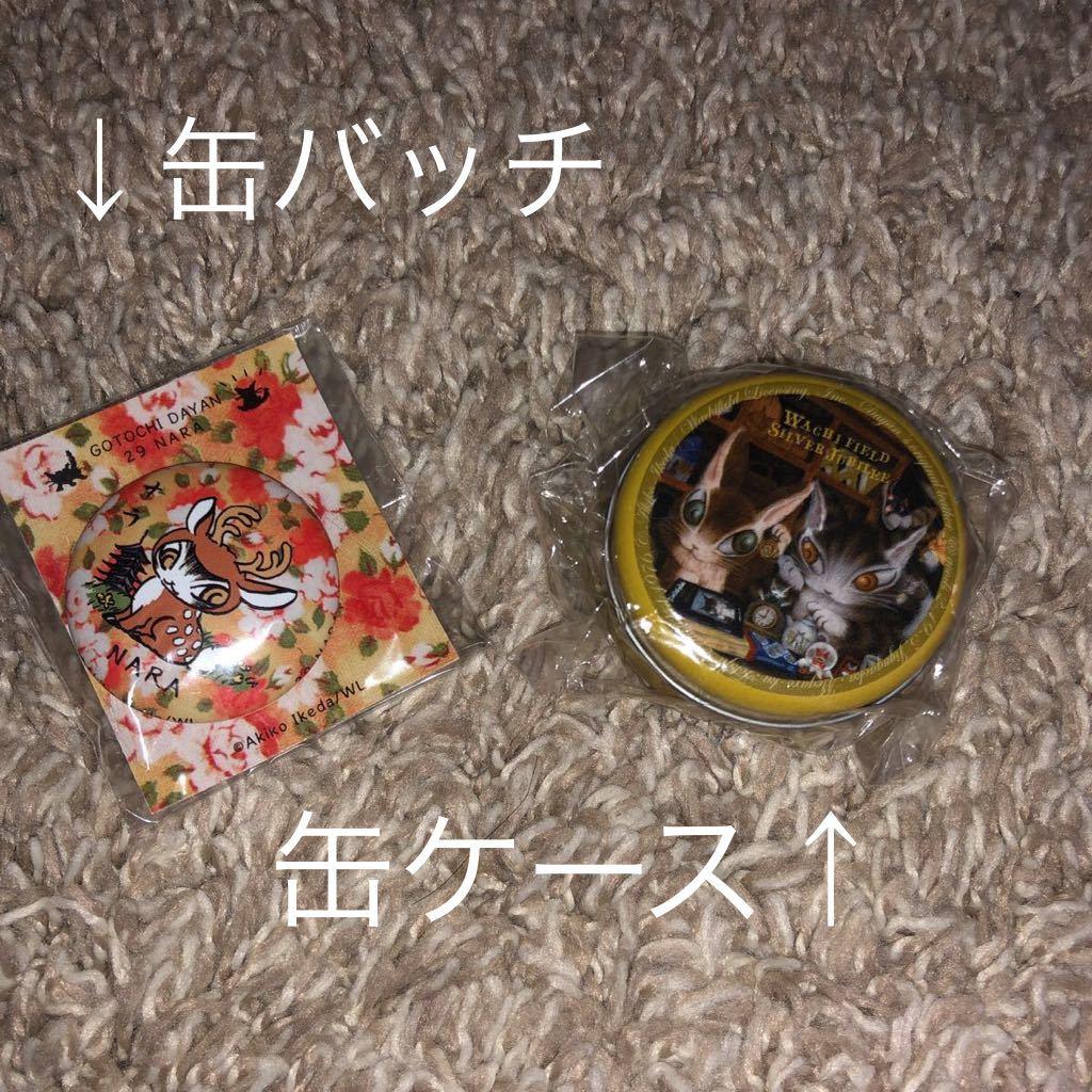 新品 わちふぃーるど 猫のダヤン 6点セット(ハンドタオル×2、缶バッチ、缶ケース、エコバッグ、タペストリー)_画像7