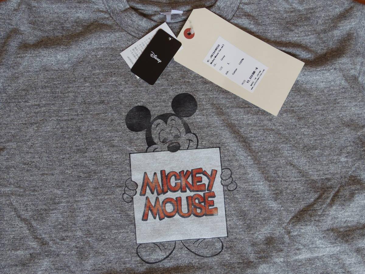 ジャクソンマティス Mickey MouseTシャツ★グレー★L☆\10584_画像1