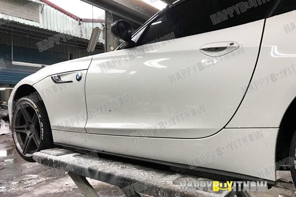 大好評!BMW Z4 E89 Mスポーツサイド スカートエクステンション スポイラー 3タイプ 艶あり黒 限定色塗装 2009+_画像8