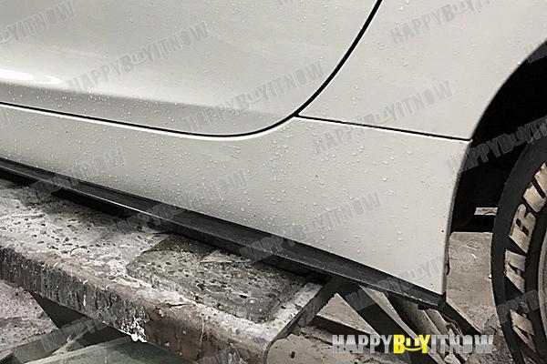 大好評!BMW Z4 E89 Mスポーツサイド スカートエクステンション スポイラー 3タイプ 艶あり黒 限定色塗装 2009+_画像9