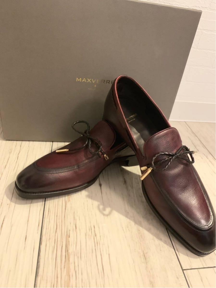1円 新品未使用 MAXVERRE マックスヴェッレ 革靴 ローファー 5インチ 24.5 検ベルルッテ