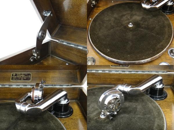 Columbia コロンビア MODEL-NO.117E Viva-tonal Grafonola グラフォノーラ 卓上型 蓄音器 [U]_画像6