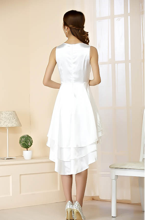 5bfaf5fa75ba7 CP送料無料 つるつる サテン ドレス ワンピース 白 サイズ3XL    3041-2-