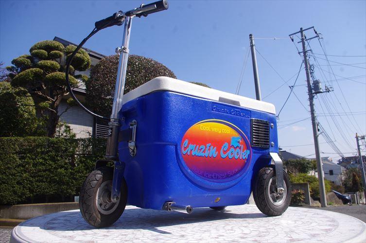 クルージンクーラー 500W 乗用玩具 三輪車 クーラーBOXにタイヤがついて走れちゃう!!各種イベントに大活躍!!バッテリーなし!_画像3
