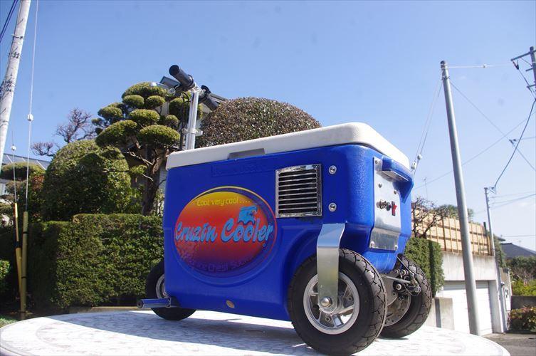 クルージンクーラー 500W 乗用玩具 三輪車 クーラーBOXにタイヤがついて走れちゃう!!各種イベントに大活躍!!バッテリーなし!_画像5