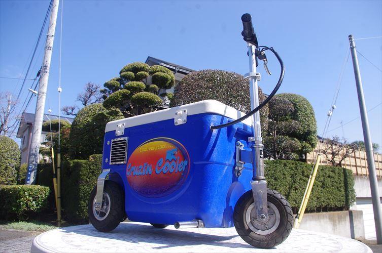 クルージンクーラー 500W 乗用玩具 三輪車 クーラーBOXにタイヤがついて走れちゃう!!各種イベントに大活躍!!バッテリーなし!_画像2