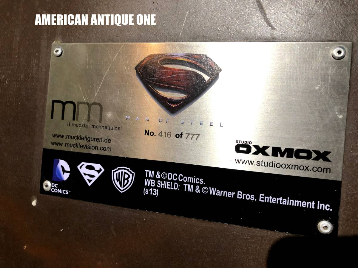 お盆限定価格^0^世界777体限定モデル スーパーマン / マックルマネキン  208cm 等身大フィギュア_画像6