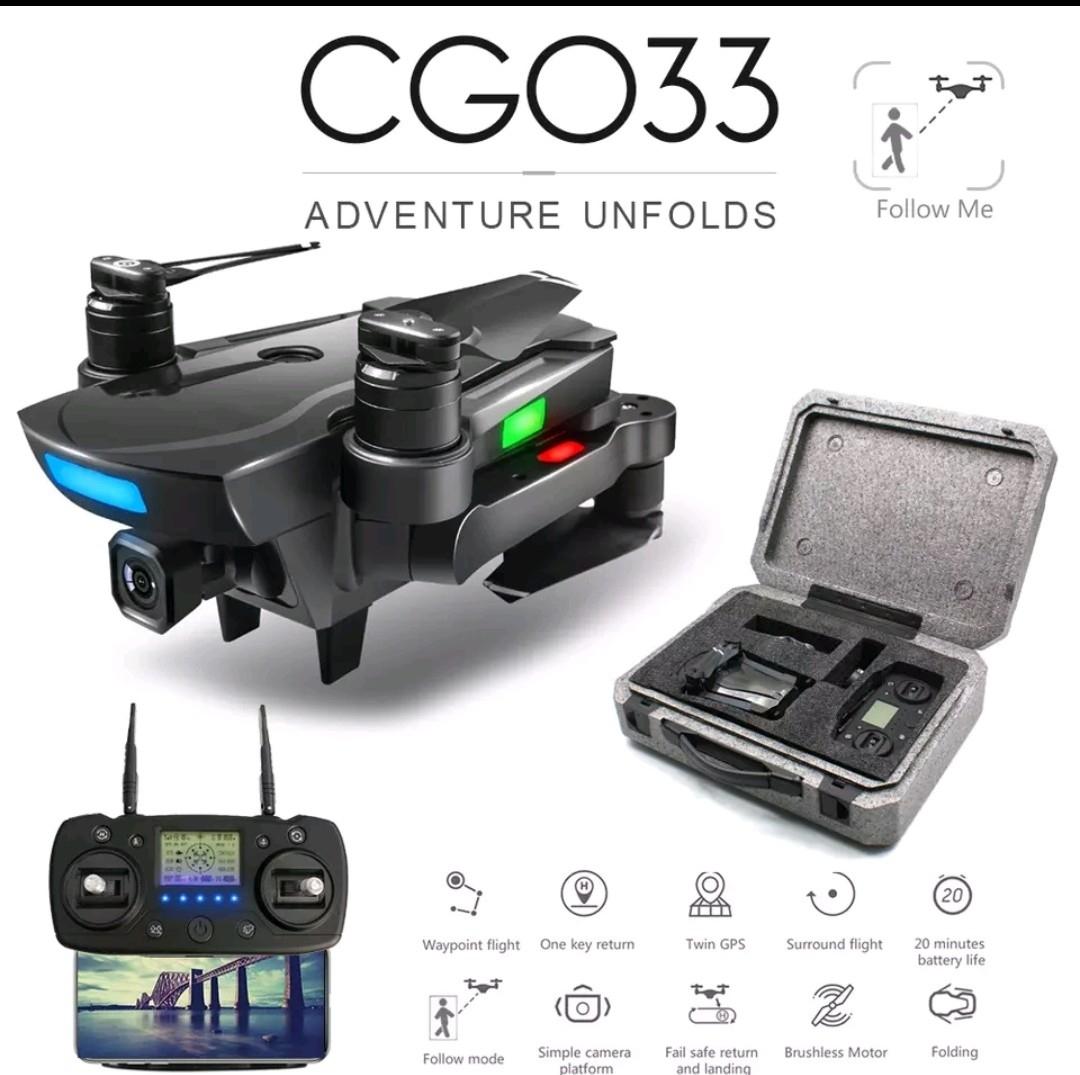 新型、CG033 GPS.ジンバルカメラ、1080p HD.画面付きコントローラー、ブラシレスモータ、2.4G.高度保持!