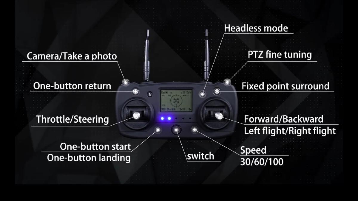 新型、CG033 GPS.ジンバルカメラ、1080p HD.画面付きコントローラー、ブラシレスモータ、2.4G.高度保持!_画像2