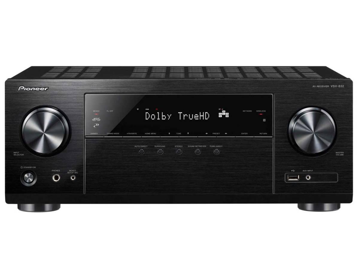 パイオニア VSX-832 展示品1年保証 Dolby Atmos、DTS:Xに対応した5.1chAVレシーバー