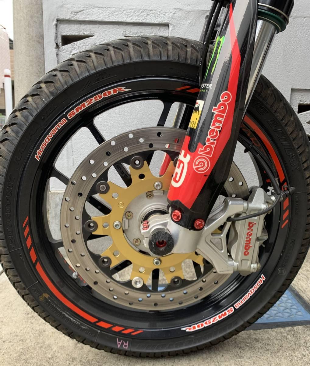 2009年式 インジェクション ハスクバーナSM250R ATHENA300cc 250cc登録 改造多数 予備部品多数_画像3
