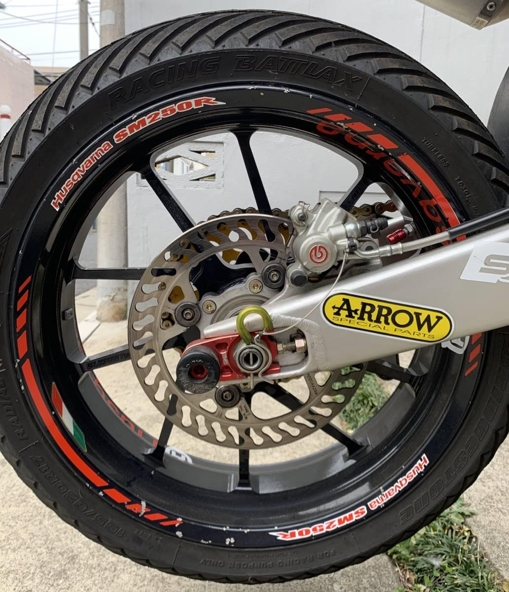 2009年式 インジェクション ハスクバーナSM250R ATHENA300cc 250cc登録 改造多数 予備部品多数_画像7