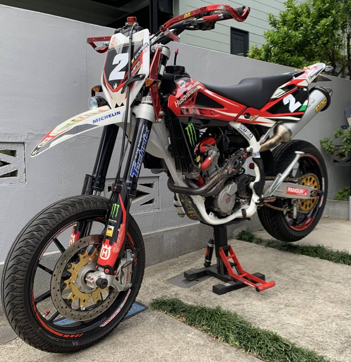 2009年式 インジェクション ハスクバーナSM250R ATHENA300cc 250cc登録 改造多数 予備部品多数_画像4