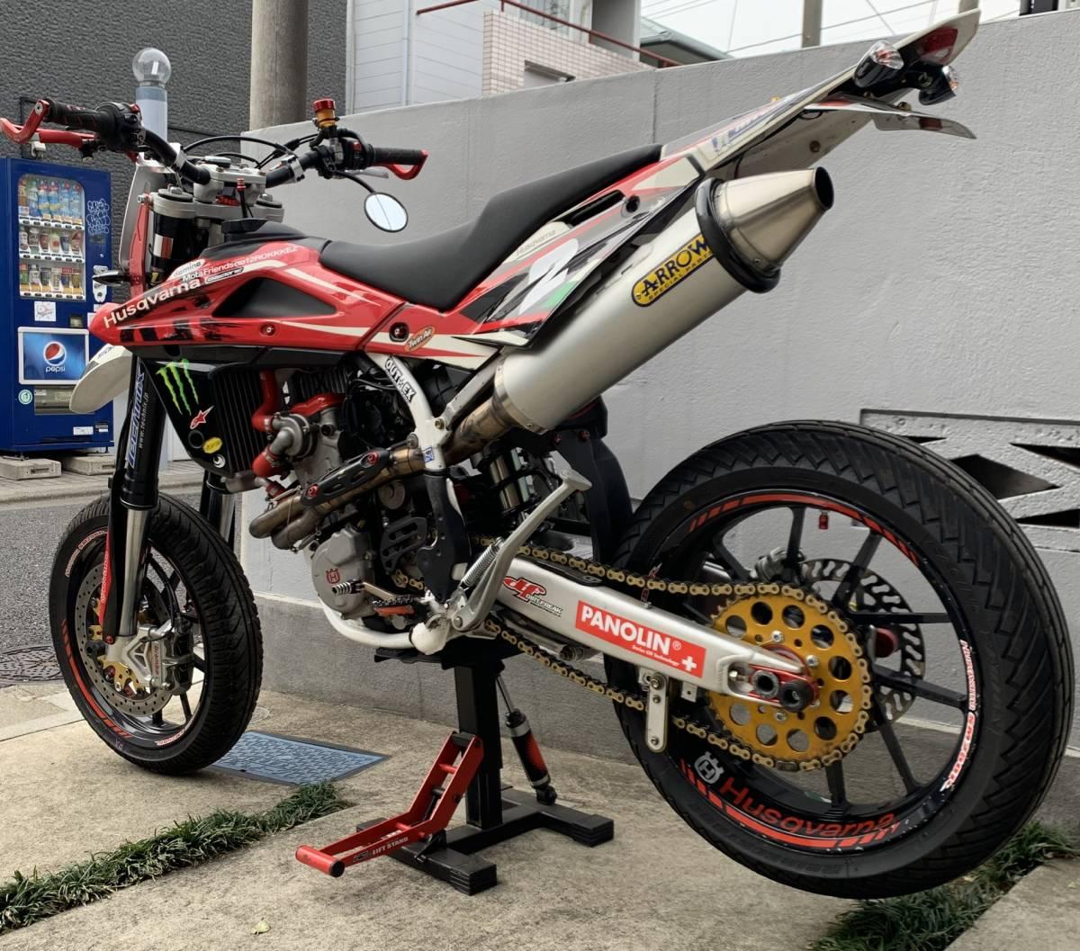 2009年式 インジェクション ハスクバーナSM250R ATHENA300cc 250cc登録 改造多数 予備部品多数_画像9