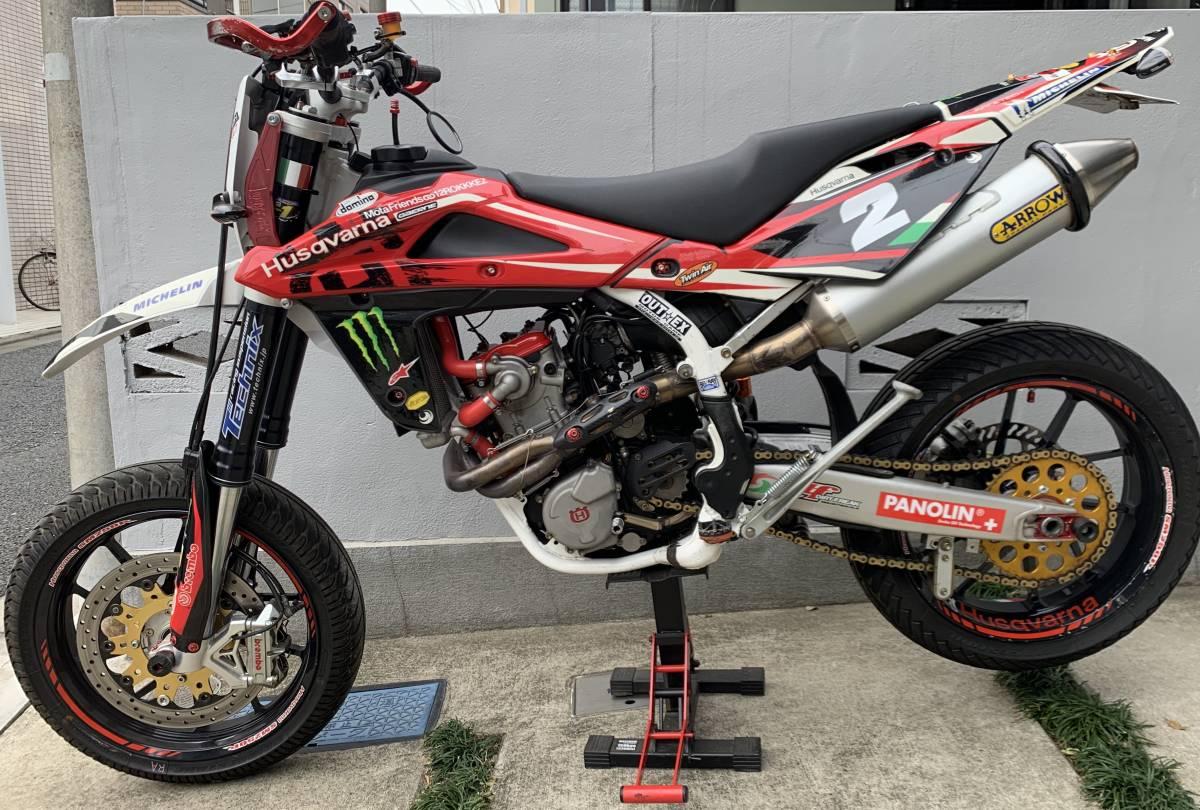 2009年式 インジェクション ハスクバーナSM250R ATHENA300cc 250cc登録 改造多数 予備部品多数_画像6