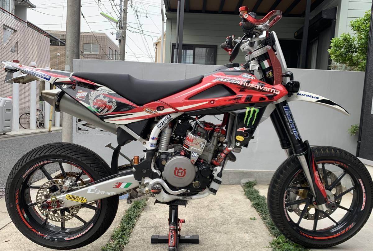 2009年式 インジェクション ハスクバーナSM250R ATHENA300cc 250cc登録 改造多数 予備部品多数