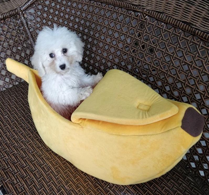 1円スタート★新品 犬猫 ペットハウス/ペット用/室内犬用/ハウス/Lサイズ/子犬子猫ベットクッションペットハウスバナナ型バナナハウス_画像4