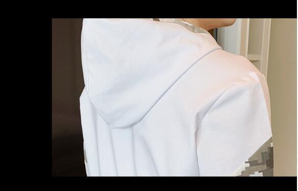春秋新品★メンズジャケット トレーナー上下セット ジャージスポーツウエア 迷彩柄 セットアップ トレーニング スウェット 白 XL/2XL/3XL_画像6