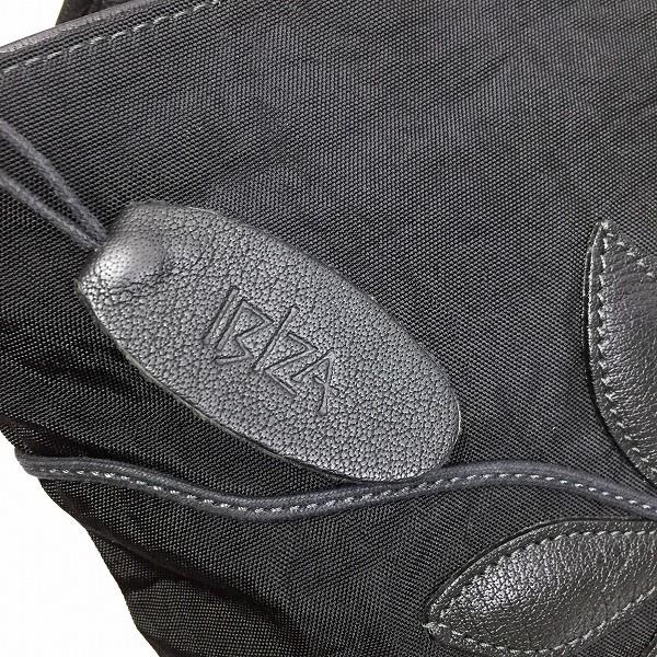 ○イビザ IBIZA ナイロン トートバッグ ハンドバッグ 花柄 黒ブラック B4-013_画像4